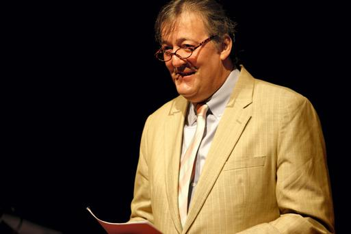 Stephen Fry will take part in a talk with Senator David Norris for the James Joyce Centre's Bloomsday Festival