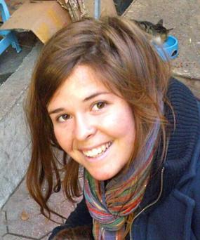 Kayla Mueller, 26, an American humanitarian worker from Prescott, Arizona is pictured in this undated photo, after the Islamic State militant group said that Mueller had been killed when Jordanian fighter jets hit a building where she was being held (Reuters)