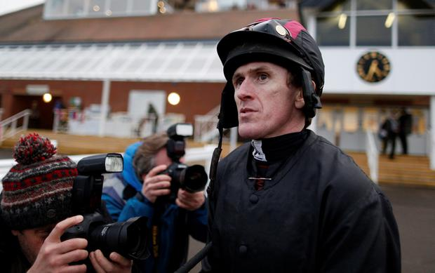 Tony McCoy on the day he announces his retirement from the saddle at Newbury racecourse on February 07, 2015 in Newbury, England