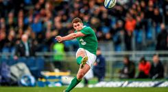 Ian Keatley kicks a second half penalty