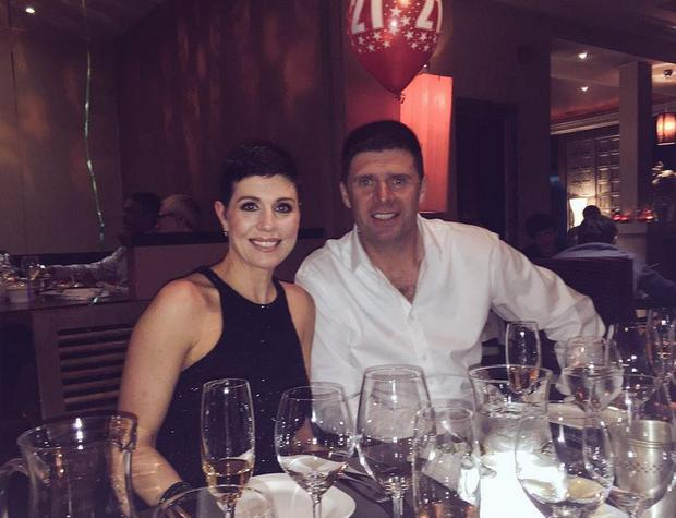 Gillian and Niall Quinn at daughter Ash's birthday