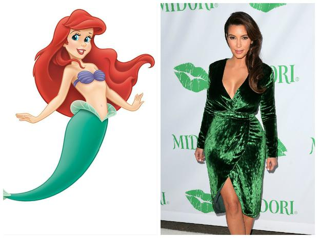 Kim's Ariel look makes us green with envy.