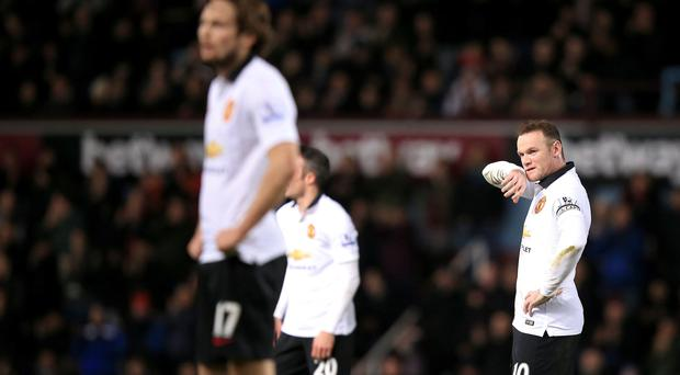 Manchester United's Wayne Rooney hasn't hit the target in 2015