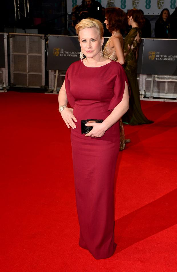 Patricia Arquette attends the EE British Academy Film Awards at the Royal Opera House, Bow Street in London. Dominic Lipinski/PA Wire