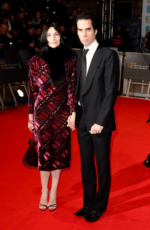 Nick Cave and wife Susie attends the EE British Academy Film Awards at the Royal Opera House, Bow Street in London. Dominic Lipinski/PA Wire