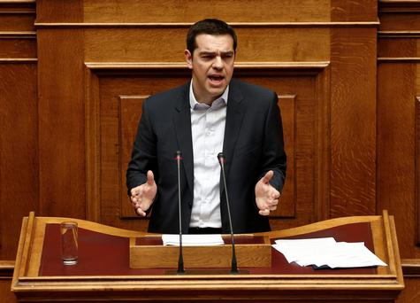 Tsipras dismissed his country's European Union and International Monetary Fund bailout and said he would not ask EU leaders for an extension (REUTERS/ Alkis Konstantinidis)