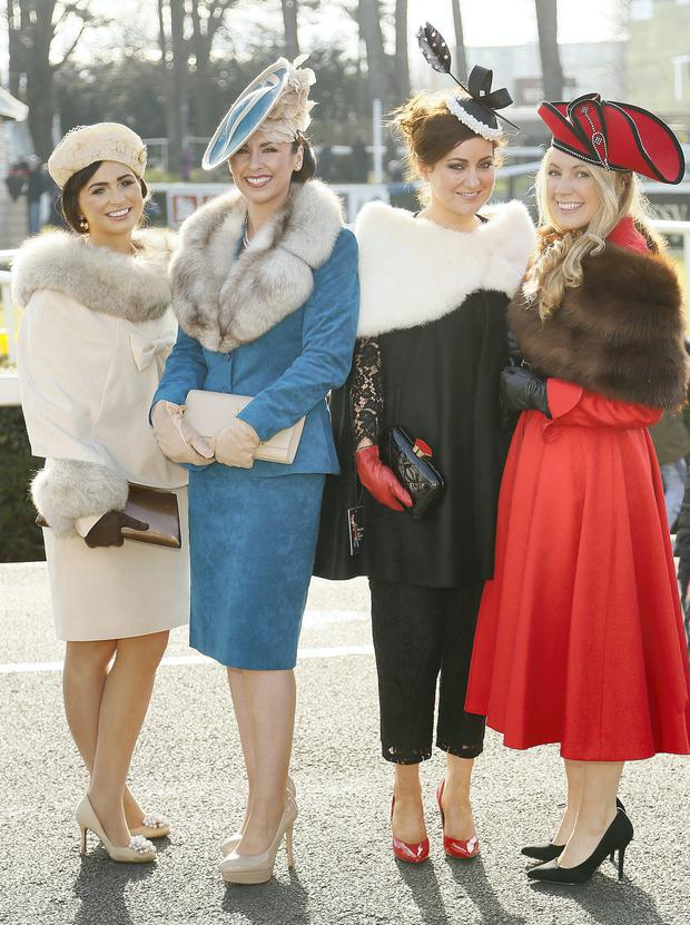 388521ec2e4 Hats off to best dressed Leopardstown ladies. Style  From left