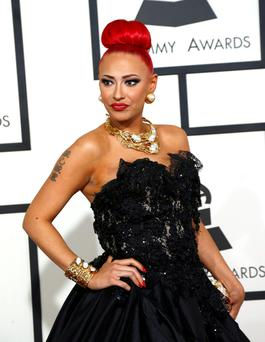 Singer Kaya Jones arrives at the 57th annual Grammy Awards in Los Angeles, California February 8, 2015. REUTERS/Mario Anzuoni (UNITED STATES - TAGS: ENTERTAINMENT) (GRAMMYS-ARRIVALS)