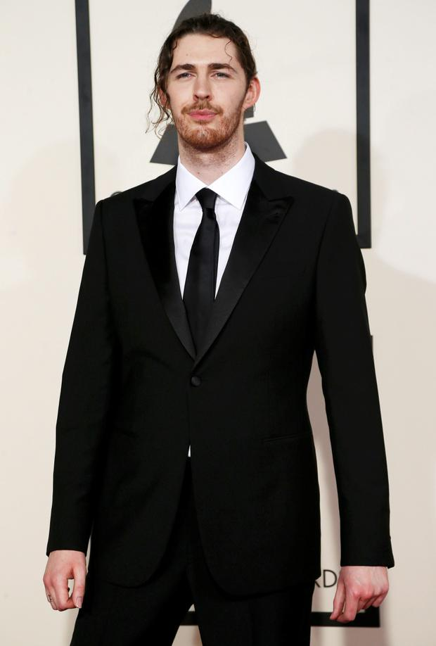 Musician Hozier arrives at the 57th annual Grammy Awards in Los Angeles, California February 8, 2015.