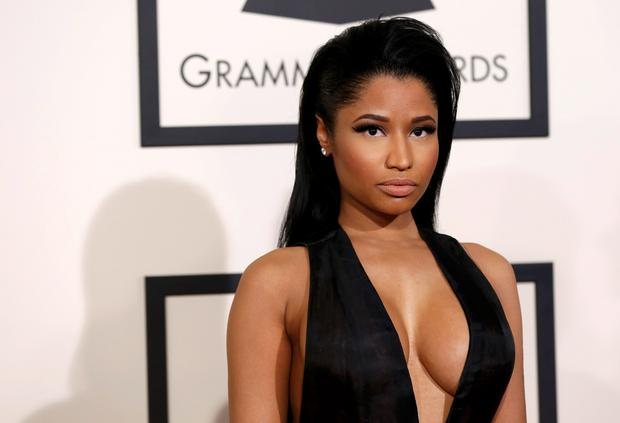 Rapper Nicki Minaj arrives at the 57th annual Grammy Awards in Los Angeles, California February 8, 2015.