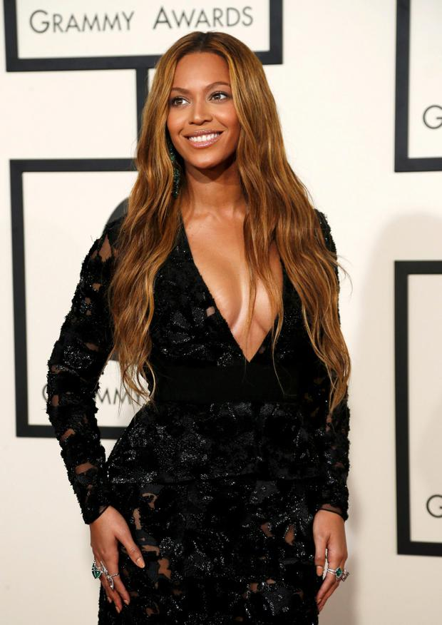 Singer Beyonce arrives at the 57th annual Grammy Awards in Los Angeles, California February 8, 2015.