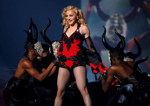 Madonna performs