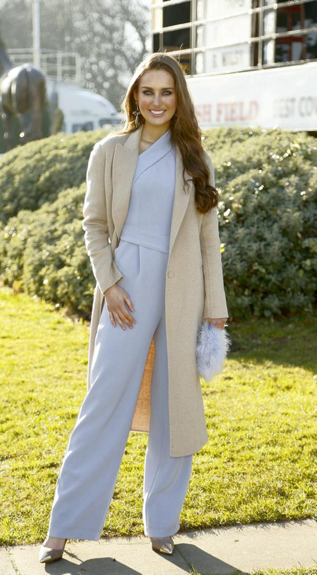 Roz Purcell at the Hennessy Gold Cup in Leopardstown