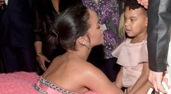 Rihanna with Blue Ivy at the Grammys