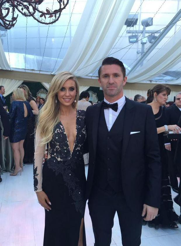Claudine and Robbie Keane at the Grammys