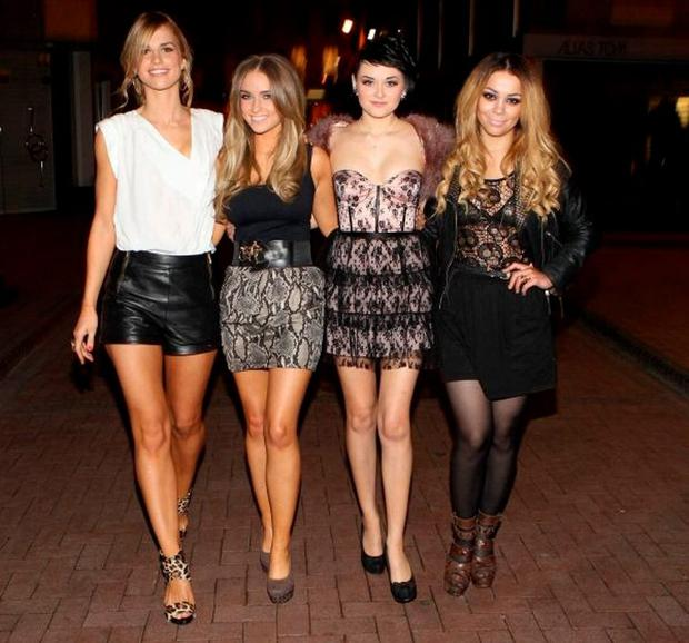Vogue Williams, Louise Johnston, Cici Cavanagh and Danielle Robinson of Fade STreet fame