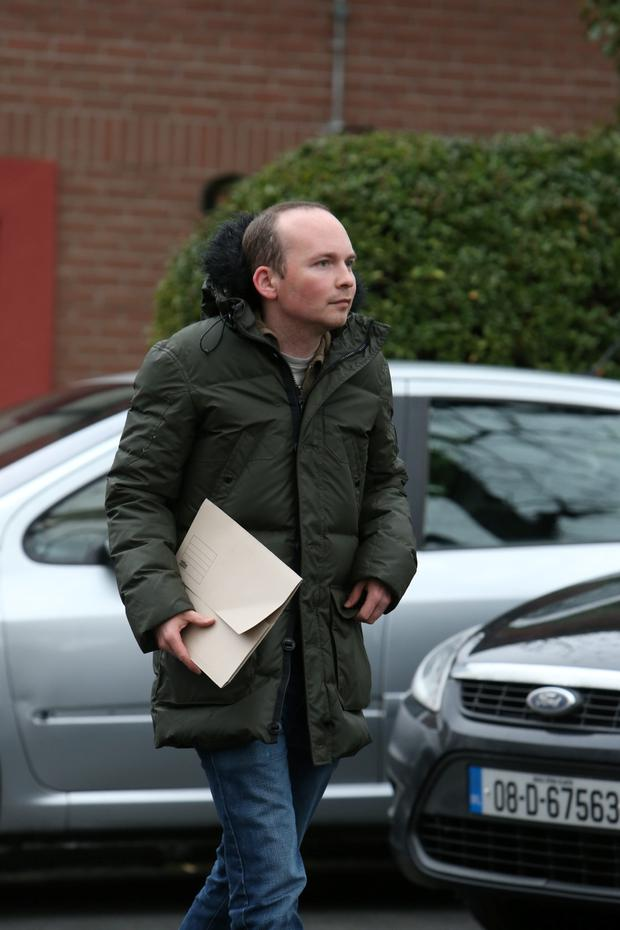 Paul Murphy leaving Terenure garda station earlier
