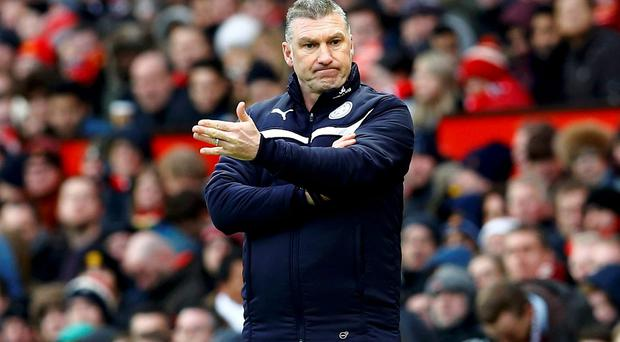 Leicester City manager Nigel Pearson became embroiled in a war of words with Gary Lineker over comments made on Match of the Day about his behaviour during the defeat to Crystal Palace. Photo: REUTERS/Darren Staples