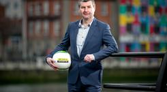 Denis Irwin was in Dublin to announce Setanta Sports' coverage of the Champions League and Europa League for three years from 2015/16. Photo: INPHO/Morgan Treacy