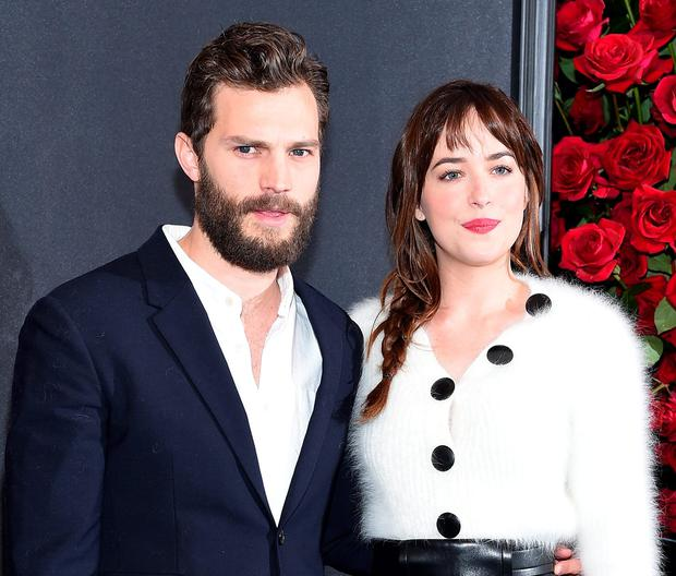 Jamie Dornan and Dakota Johnson, stars of 'Fifty Shades Of Grey'