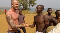Humanitarian charity Unicef's 7 fund - named after the former England footballer's favourite shirt number - will focus on seven countries where youngsters are at risk. See PA story CHARITY Beckham. Photo: David Turnley /Unicef/PA Wire