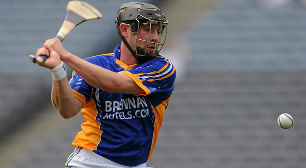 Andy O'Brien in action for Wicklow