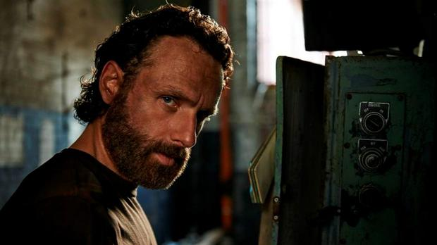 Rick (Andrew Lincoln) in the Series Five of The Walking Dead
