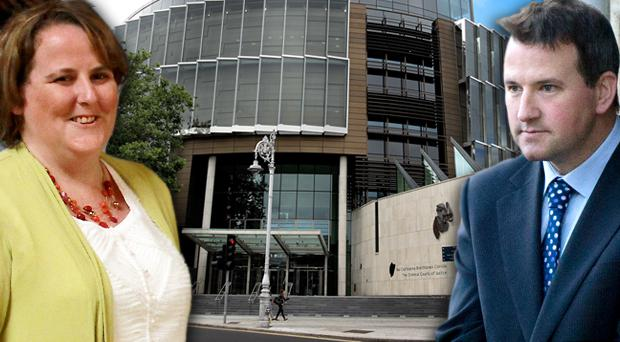 Elaine O'Hara (left) and murder accused Graham Dwyer