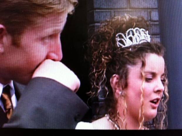 Michael Quinn McDonagh with his new bride Jacqueline on their wedding day in 1997 Pic: Knuckle