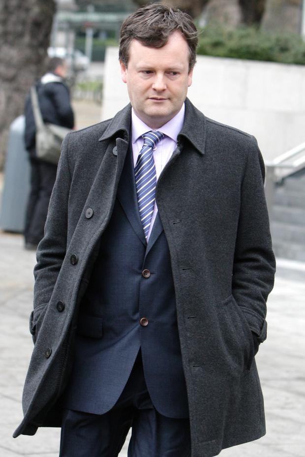 Witness Robert Cullen Jones at court earlier today where he gave evidence in the trial of Graham Dwyer who has pleaded not guilty to the murder Elaine O'Hara in August 2012. Pic: Courtpix