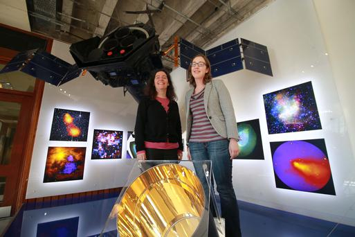 03/02/2015 Parameter Space and European Space Agency Pictured were Professor Lorraine Hanlon, UCD School of Physics and co-founder, Parameter Space and Dr Sheila McBreen, UCD School of Physics and co-founder Parameter Space. Picture Nick Bradshaw