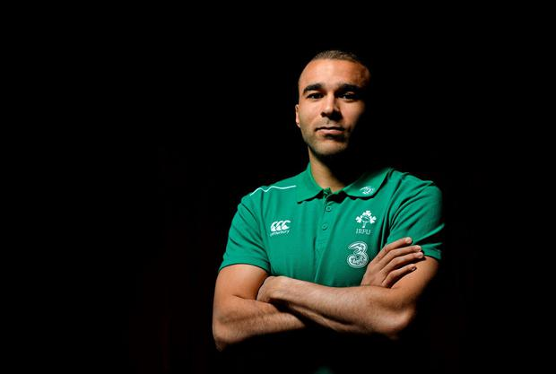 Simon Zebo has always admired French flair, as he showed with his famous flick against Wales in 2013. Photo: Brendan Moran / SPORTSFILE