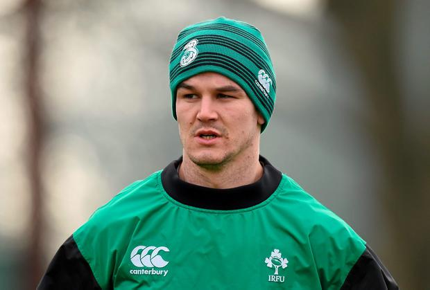 Jonathan Sexton trained fully on Monday and Tuesday and is expected to be handed the No 10 jersey for Ireland's clash with France. Photo: Brendan Moran / SPORTSFILE
