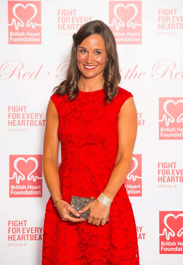 Pippa Middleton attending the British Heart Foundation's Roll Out The Red Ball fundraiser at The Park Lane Hotel