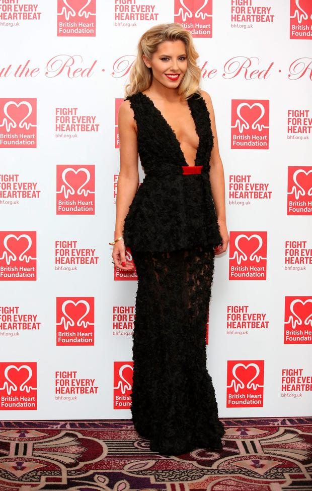 Mollie King attends the British Heart Foundations Roll Out The Red Ball at Park Lane Hotel