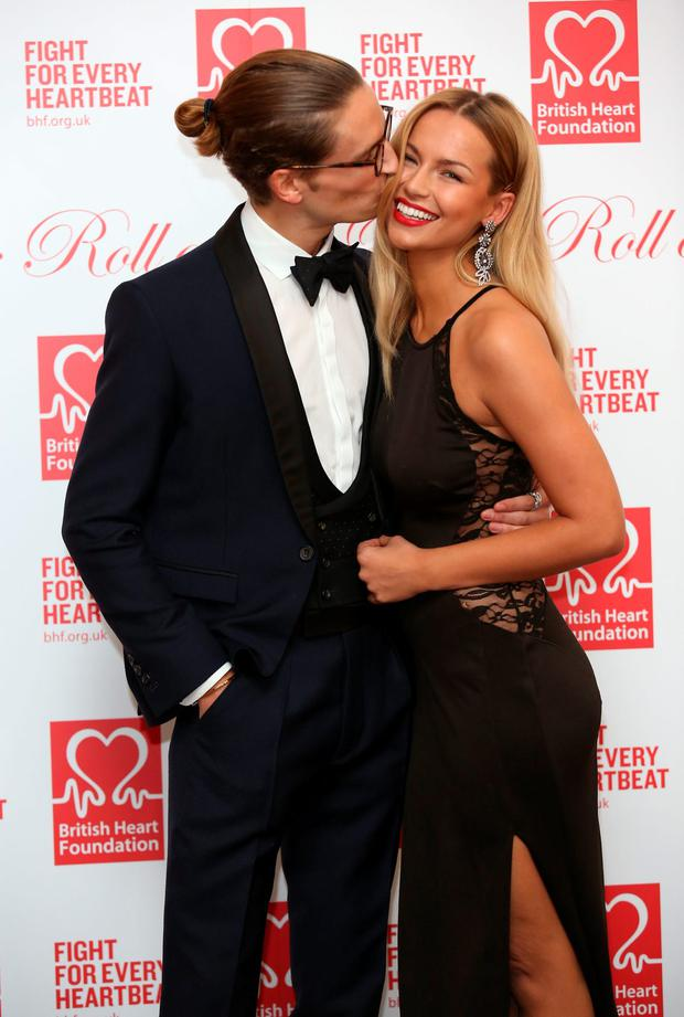 Oliver Proudlock and Emma Louise Connolly attend the British Heart Foundations Roll Out The Red Ball at Park Lane Hotel