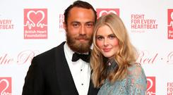 James Middleton and Donna Air attend the British Heart Foundation's Roll Out The Red Ball at Park Lane Hotel