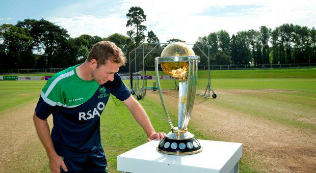 Ireland's Andrew White welcomes the ICC Cricket World Cup to Ireland at Malahide