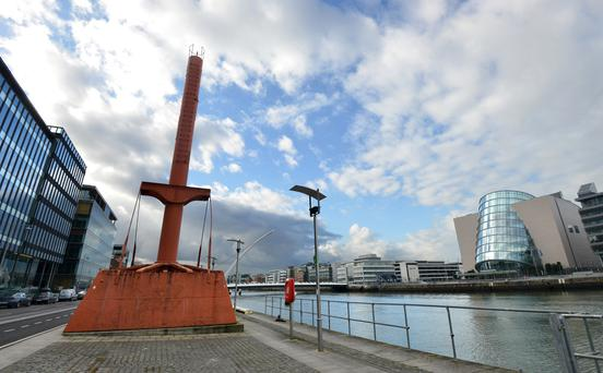 Diving Bell, Dublin Docklands. The device is being refurbished as a tourist attraction for 2015.