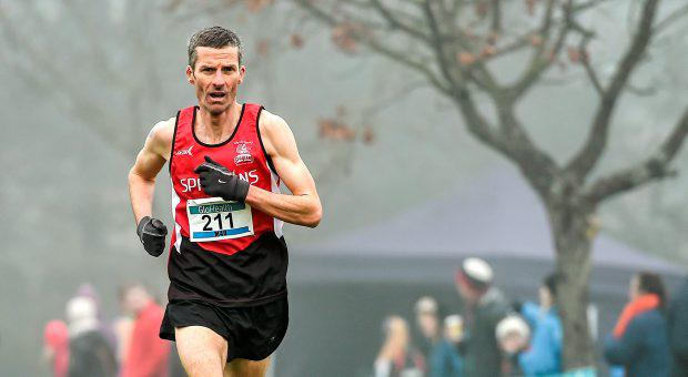 Declan Reed, from City of Derry AC, who won the men's Master's 7000m at the GloHealth Intermediate, Master and Juvenile B Cross Country Championships, Palace Grounds, Tuam, Co. Galway. Picture credit: Matt Browne / SPORTSFILE