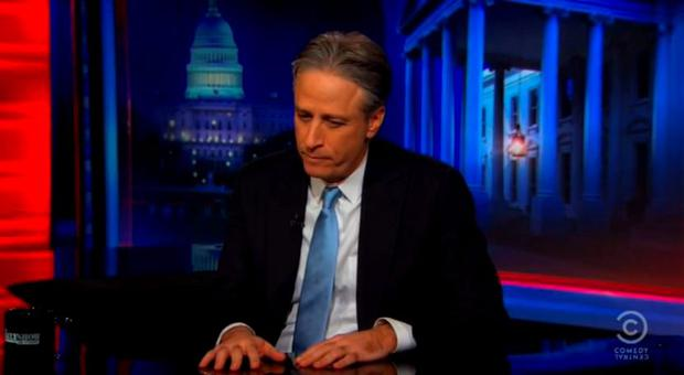 Jon Stewart makes his emotional retirement announcement on The Daily Show