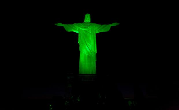 Greening, CHRIST THE REDEEMER STATUE JOINS TI'S GLOBAL GREENING.jpg