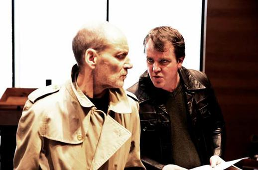 Michael Feast and Garrett Lombard in rehearsals for The Caretaker at The Gate Theatre. Pic: Pat Redmond