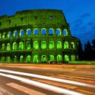 A mock-up of the 'greened' Colosseum' in Rome – as it may appear when it is illuminated in green as part of Tourism Ireland's Global Greening initiative for St Patrick's Day 2015.