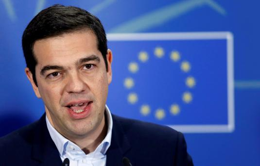 Greek Prime Minister Alexis Tsipras addresses the EU Parliament in Brussels as he tries to negotiate a deal on the country's bailout.