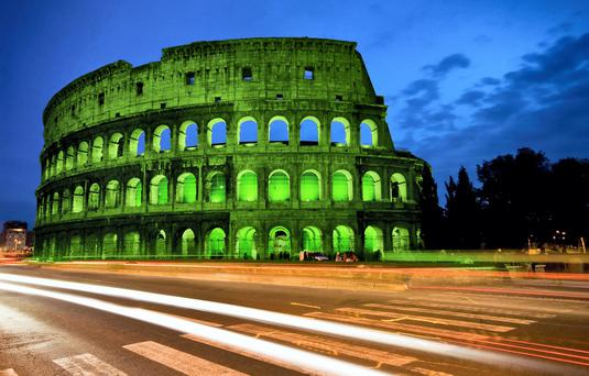 How the Colusseum in Rome will look.