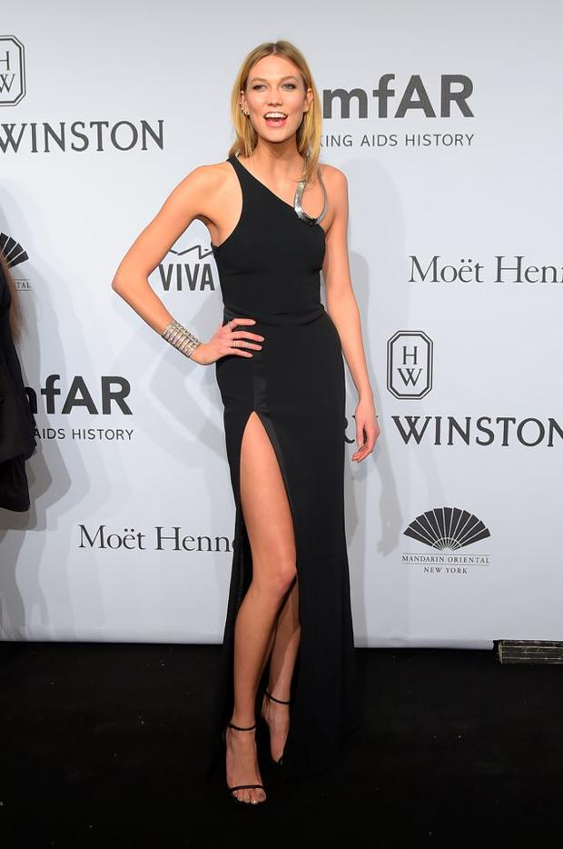 Karlie Kloss attends the 2015 amfAR New York Gala at Cipriani Wall Street on February 11, 2015 in New York City. (Photo by Michael Loccisano/Getty Images)