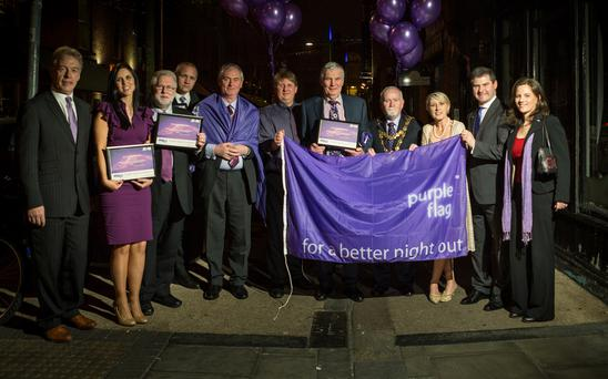 Purple Flag Award winners celebrating this week. Purple Flags are awarded to towns and cities meeting certain criteria for vibrant and safe evening and night time economies.