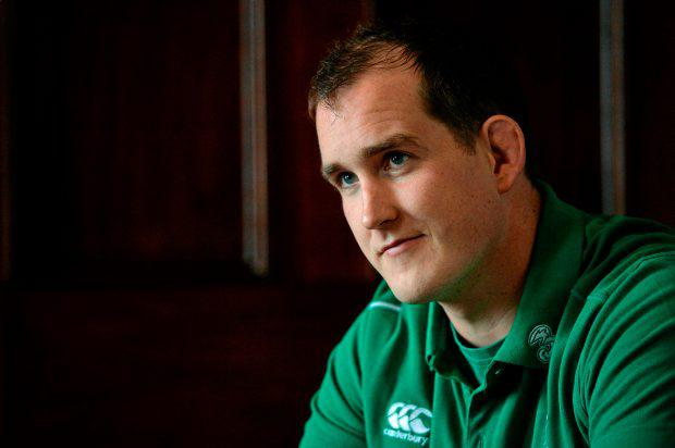 Ireland's Devin Toner during a press conference. Carton House, Maynooth
