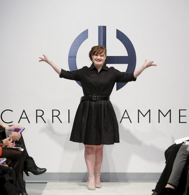 Actress Jamie Brewer as she takes to the runaway (Getty Images)